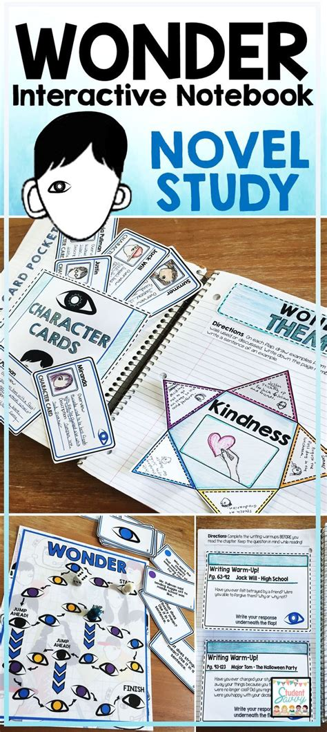 wonder 3 activity 8466812717 wonder novel study interactive notebook cuadernos interactivos