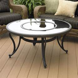 shop outdoor greatroom company black glass pit table - Glass Pit Table