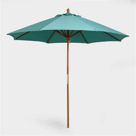 Teal 9 Ft Umbrella Canopy World Market World Market Patio Umbrellas