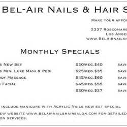 los angeles hair styling deals in los angeles groupon bel air nails and hair salon nail salons 2337