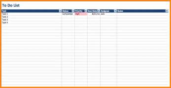 4 excel checklist template resume reference