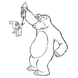 free coloring pages marsha bear
