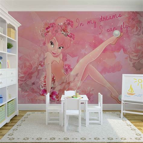 tinkerbell bedroom wallpaper disney fairies tinker bell wall paper mural buy at