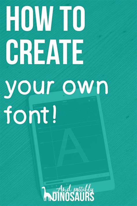 how to create your own fonts and edit truetype fonts pinterest the world s catalog of ideas