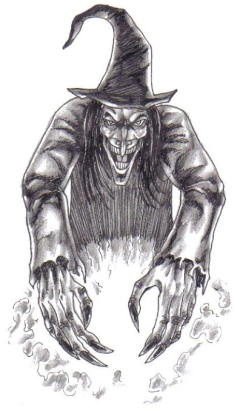 Scary Witch Drawing how to draw a witch witches drawings tutorial hubpages