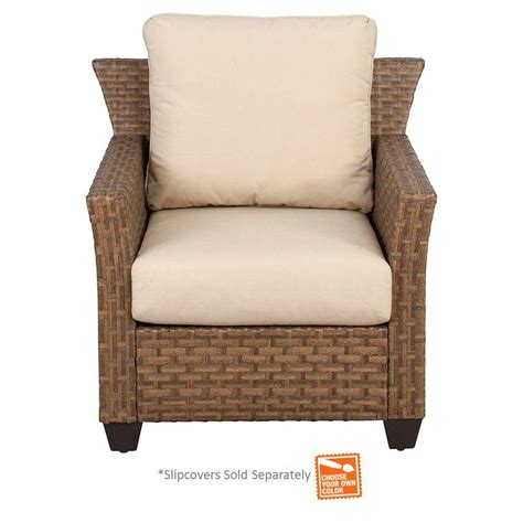 patio cushion slipcovers hton bay tobago patio lounge chair with cushion insert