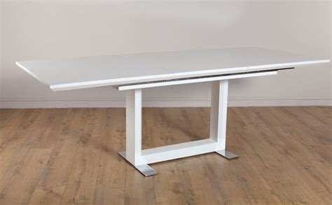white extending dining tables tokyo white high gloss extending dining room table 160 220