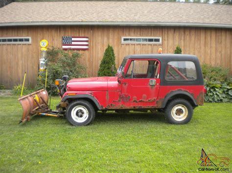 Jeep With Snow Plow For Sale 1986 Jeep Cj7 Meyer Snow Plow Low