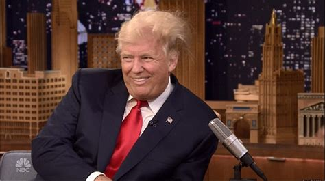trump s donald trump lets jimmy fallon wildly muss up his hair on