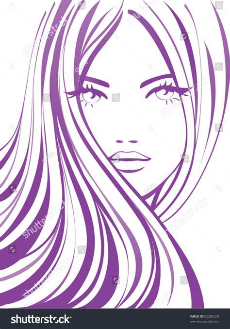 Fashion Girl Icon Beautiful Young Woman Stock Vector 65206558   Shutterstock