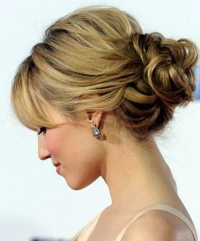 soft updo hairstyles hairstyles for mother s updo with bangs com wp