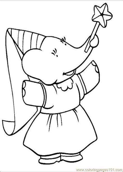 coloring pages babar coloring pages 020 cartoons gt babar