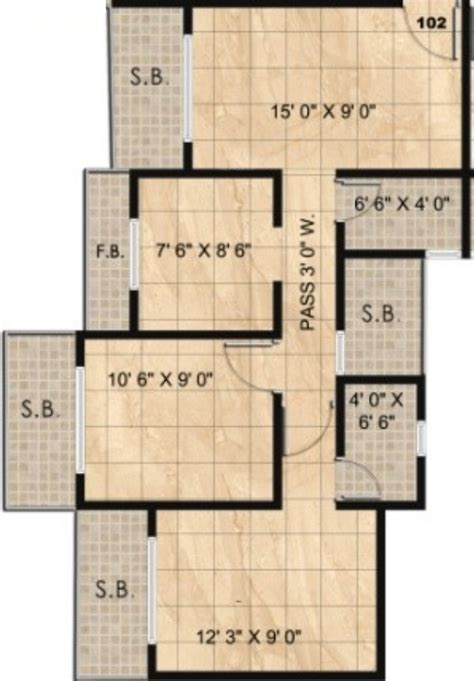 twin towers floor plans 1008 sq ft 2 bhk 2t apartment for sale in panvelkar group