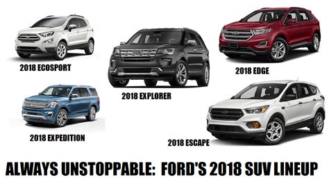 Ford Suv Lineup by Always Unstoppable Ford Suv Lineup For 2018 Ford