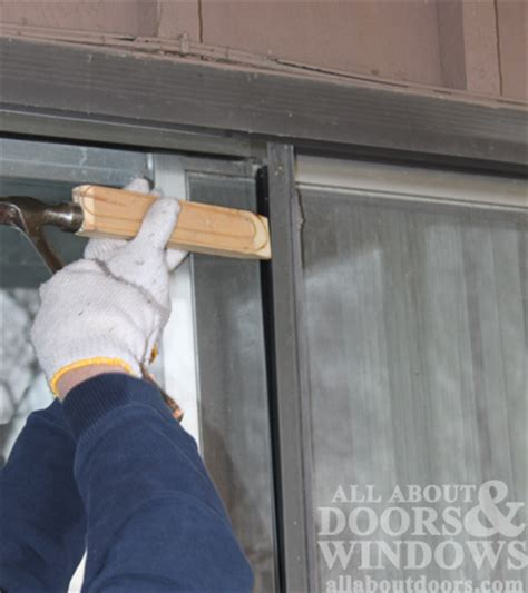 Removing Sliding Glass Door How To Replace Rollers In Aluminum Sliding Glass Doors
