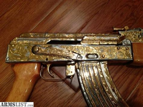 Miniatur Pistol Sniper Steel armslist for sale ak47 24k gold two tone engraved