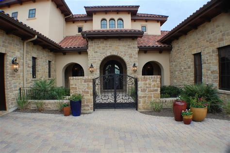 Mediterranean Style Home Decor by Anderson Front Elevation Mediterranean Exterior