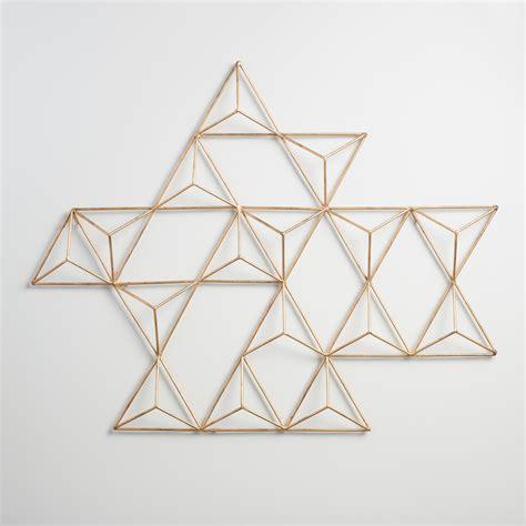 geometric wall decor metal jaxon triangle wall art world market