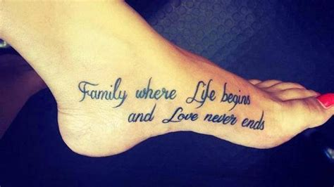 tattoo family quotes mini tattoos on twitter quot family where life begins and