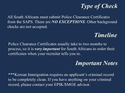 Criminal Record Check South Africa South Africa Criminal Record Check Teaching In South Korea