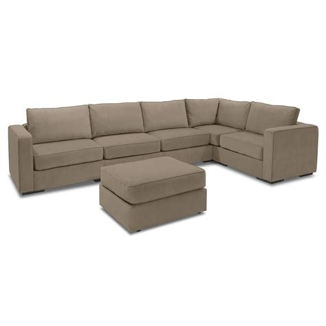 rearrangeable sectional 5 series sactionals large l sectional taupe lovesac