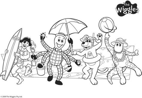 Wiggly Beach Friends The Wiggles Coloring Pages Pbs Kids Sprout Children Colouring The Wiggles Colouring Pages