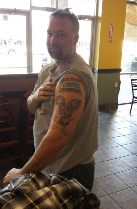 seahawks tattoo fail seahawks fan gets quot back to back super bowl chions