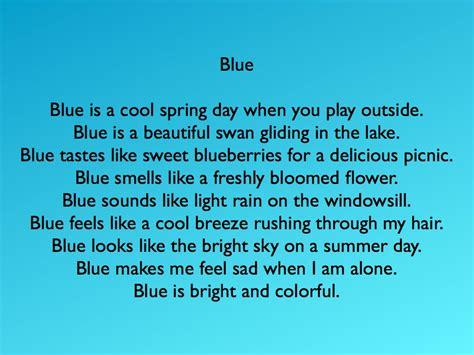 color poems color blue poems