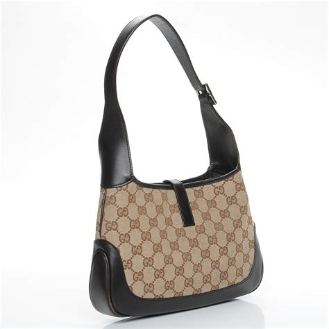 gucci monogram web small jackie o hobo brown 222395