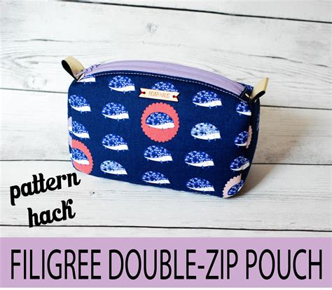 pattern pouch bag pattern hack filigree double zip pouches sew sweetness