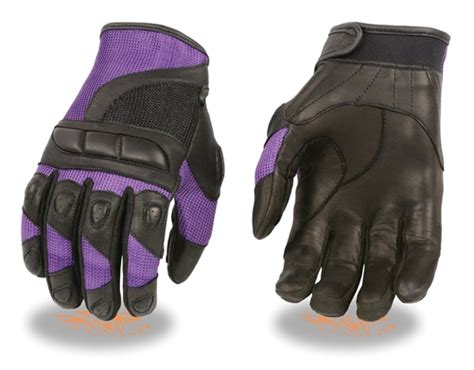 womens light purple tool belt purple leather mesh s protective motorcycle gloves