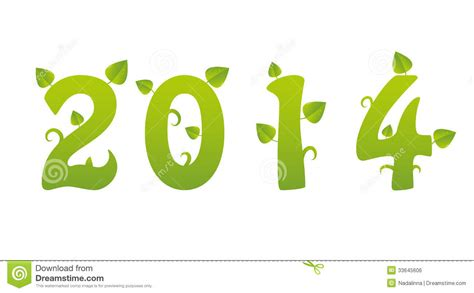 new year green 2014 green new year royalty free stock image image 33645606