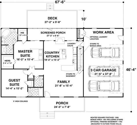 House Plans And Design Modern House Plans Under 1500 Sq Ft