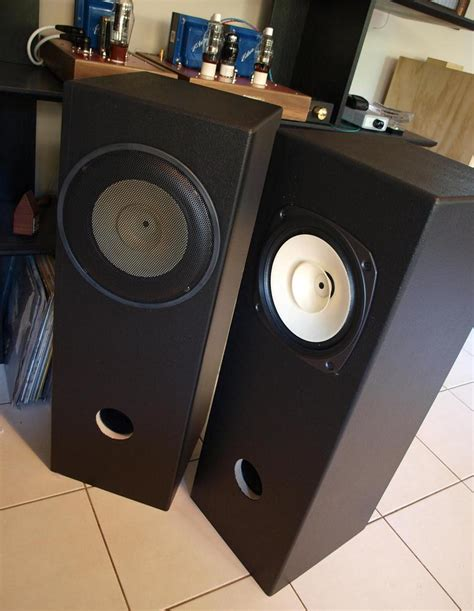 diy speaker projects fostex fe206en in bass reflex speaker enclosure
