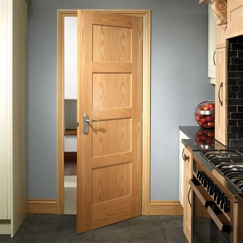 shaker oak 4 panel solid door xl joinery panel doors