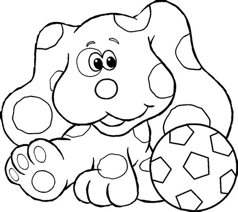 printable blue clues coloring pages coloring