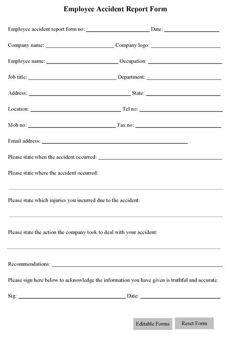 printable liability form template form generic