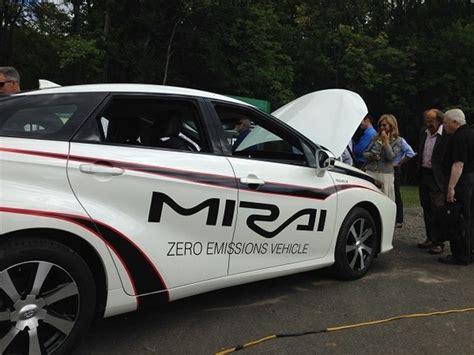 toyota zero emission vehicle hopewell hydrogen house dedication draws hundreds