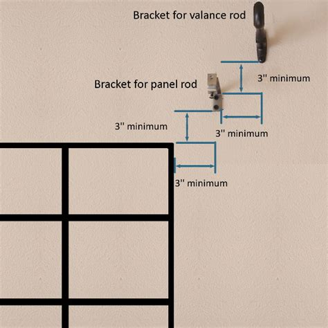 curtain rod bracket placement how to measure and install