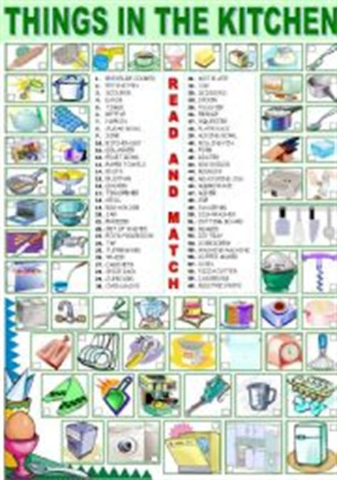 Things In The Kitchen Vocabulary worksheet things in the kitchen
