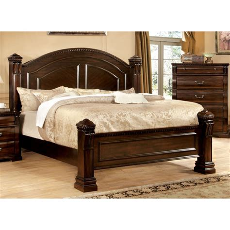 california king poster bed furniture of america oulette california king poster bed in