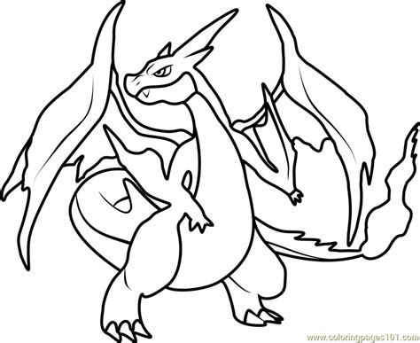 Charizard Ex Coloring Pages by Mega Charizard Ex Coloring Page Free Printable Coloring