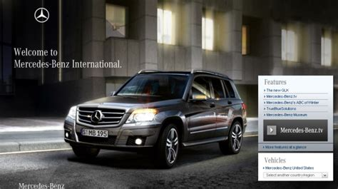 mercedes launches redesigned international website