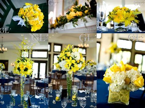 Navy And Yellow Wedding Decorations   yellow wedding
