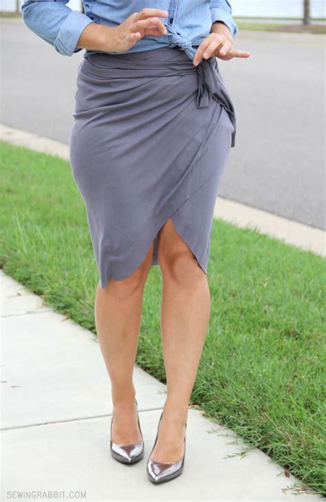 no sew wrap around tulip skirt wraps diy clothes and
