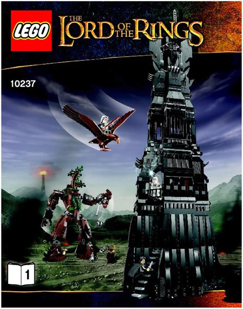 tutorial lego lord of the rings lord of the rings lego the tower of orthanc instructions