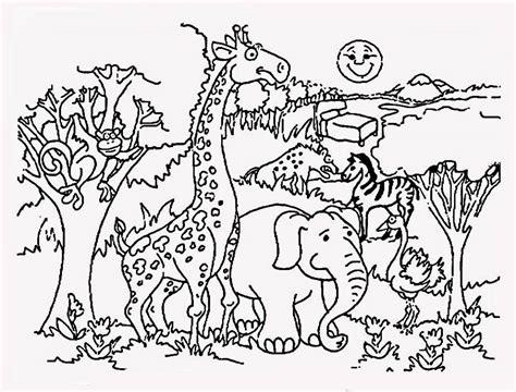 wild animals coloring pages preschool desenho de safari no zool 243 gico para colorir tudodesenhos