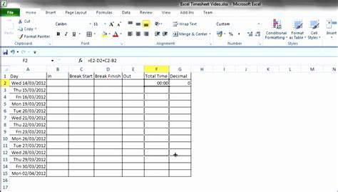 8 Time Sheet Excel Template Exceltemplates Exceltemplates Excel Timesheet Template Formulas