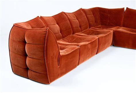 velvet sofa sectional 1970s velvet modular sectional sofa at 1stdibs