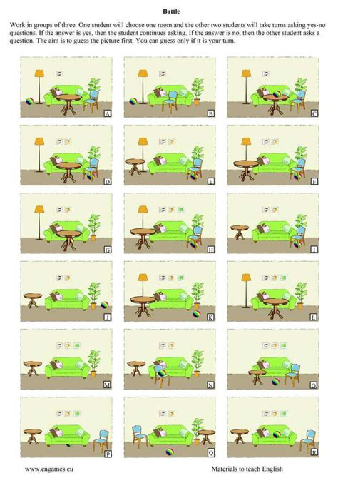 prepositions of place speaking activities games to